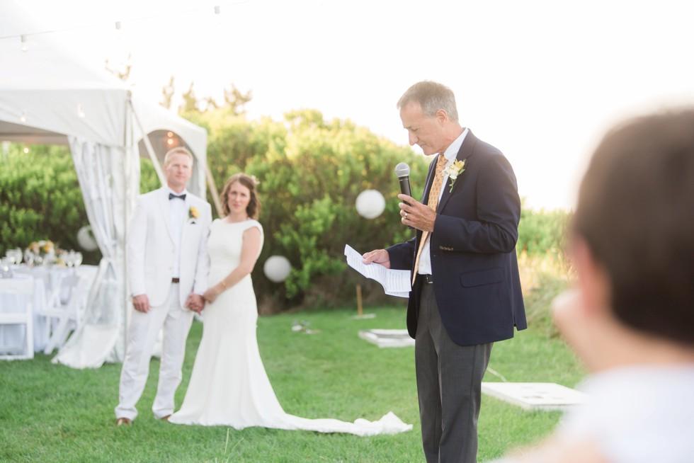 Addy Sea wedding toasts
