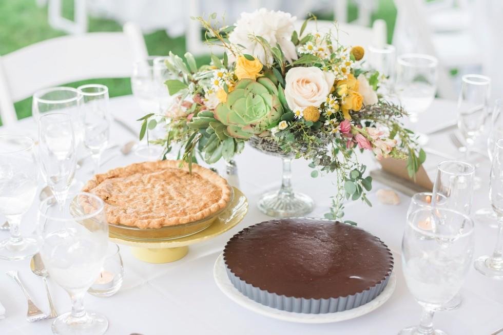 Addy Sea wedding pie