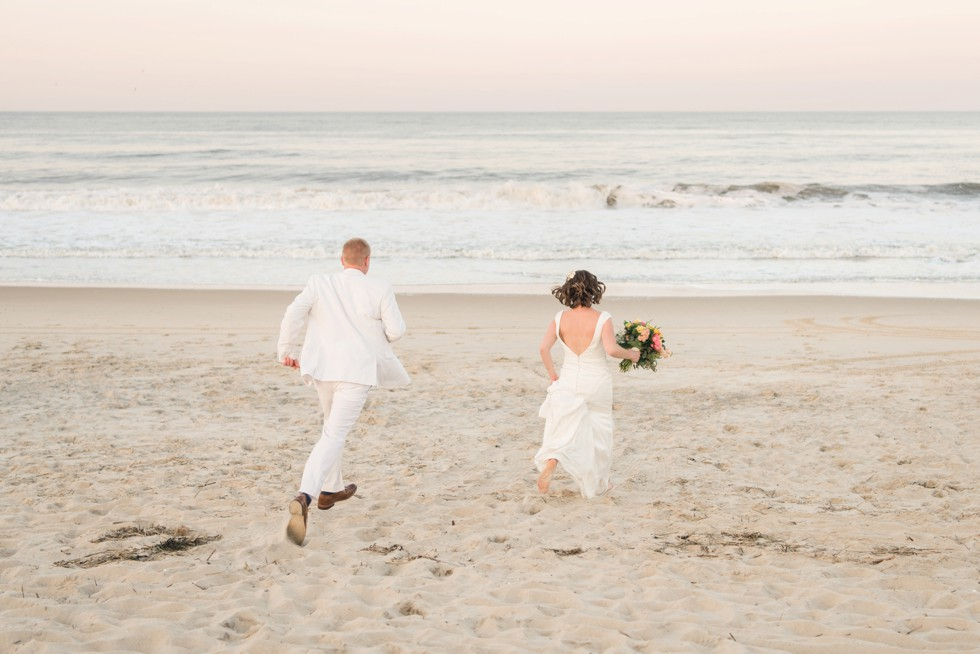 Delaware Beach sunset wedding photo