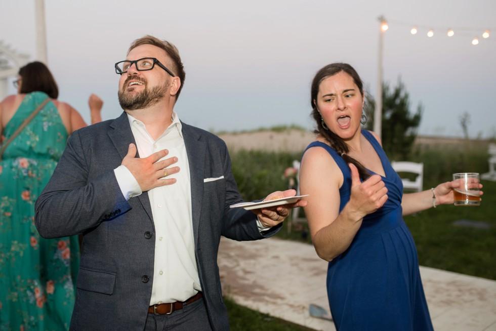 Addy sea outdoor wedding dance party