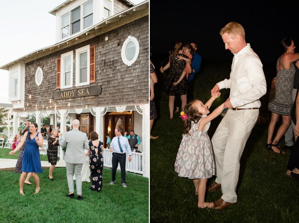 Addy sea outdoor wedding reception