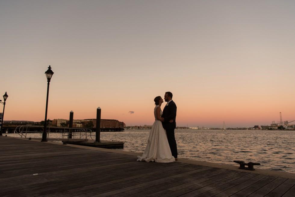 Frederick Douglas Maritime Museum Wedding Sunset