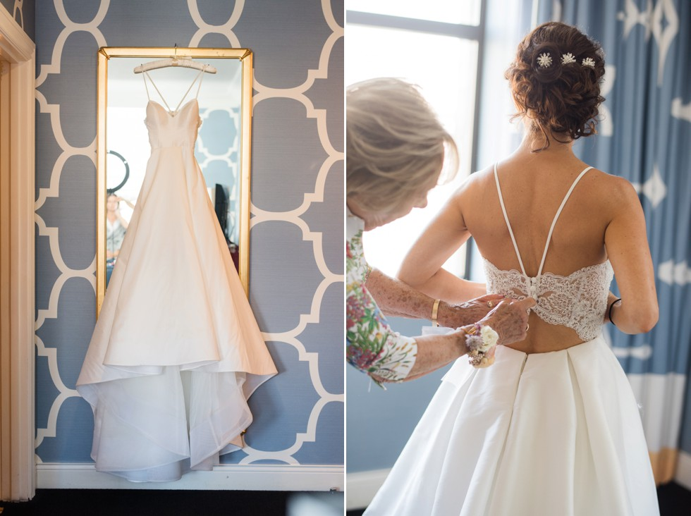 Hotel Monaco Philadelphia wedding bride getting ready