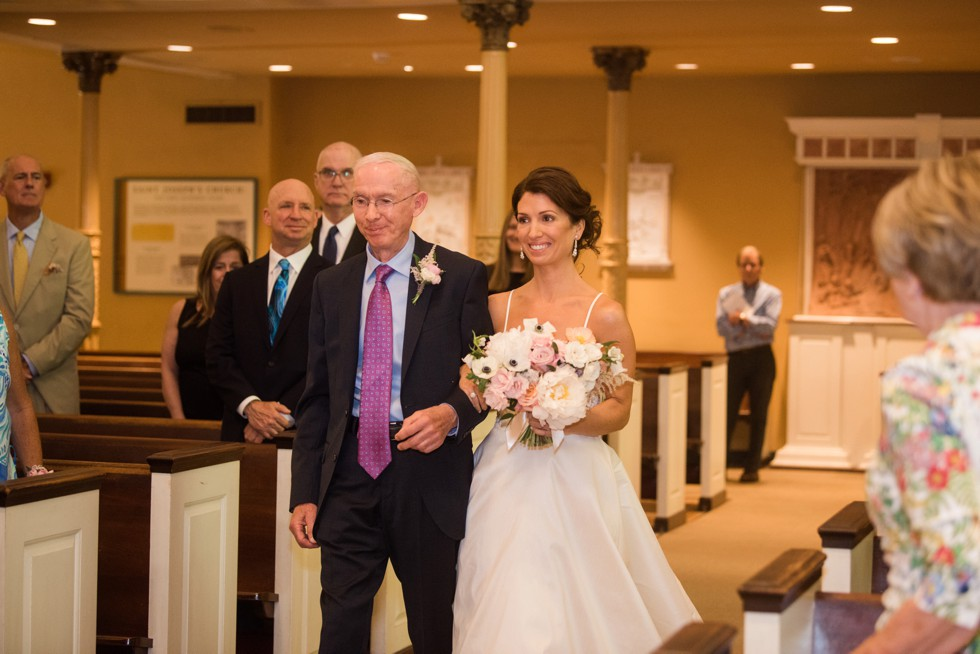 Old St. Josephs Church Philadelphia wedding ceremony