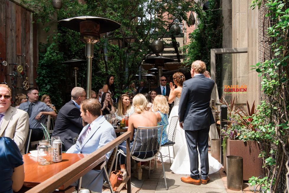 Talulas Garden Wedding Reception