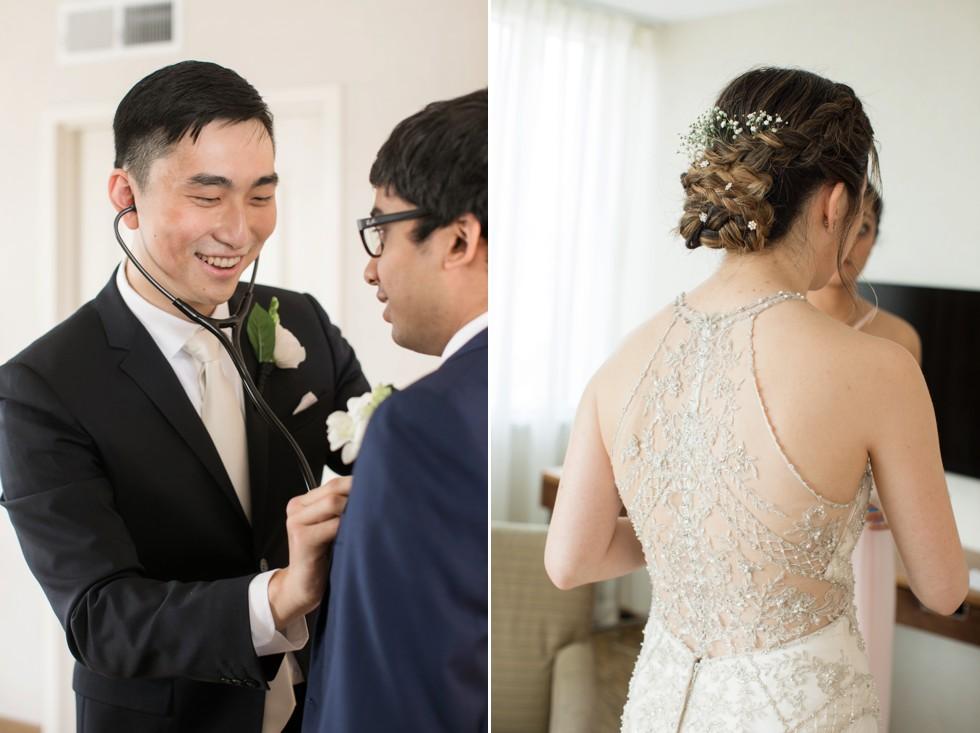 Hilton Baltimore getting ready wedding photos