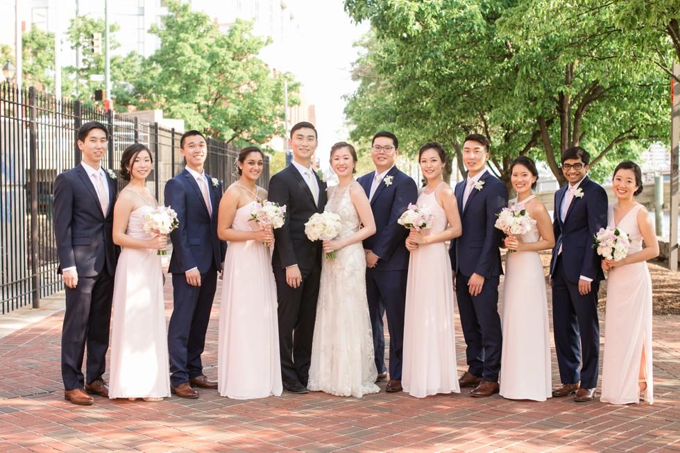 Sagamore pendry Baltimore wedding party photos