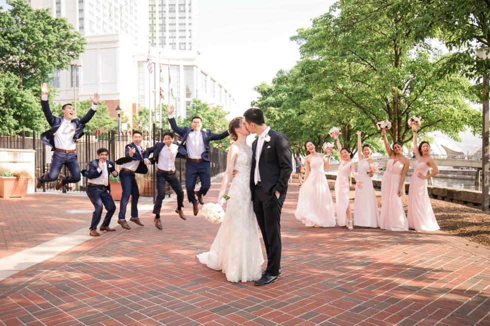 Blue Vanda Floral Design Sagamore pendry Baltimore wedding party photos