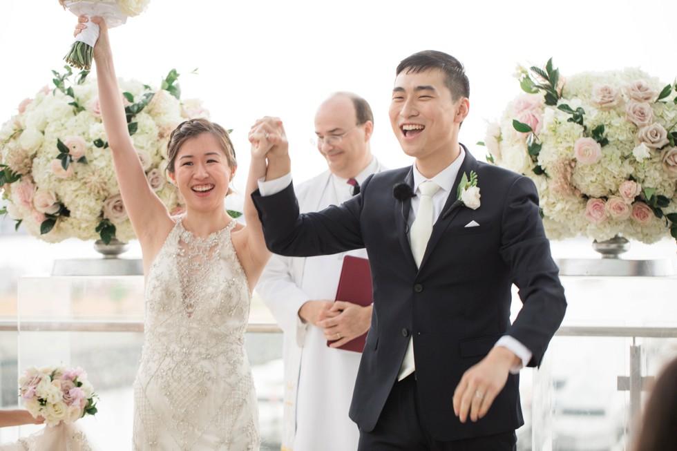 Baltimore harbor wedding ceremony