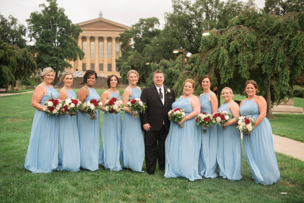 Philadelphia Museum of Art wedding party