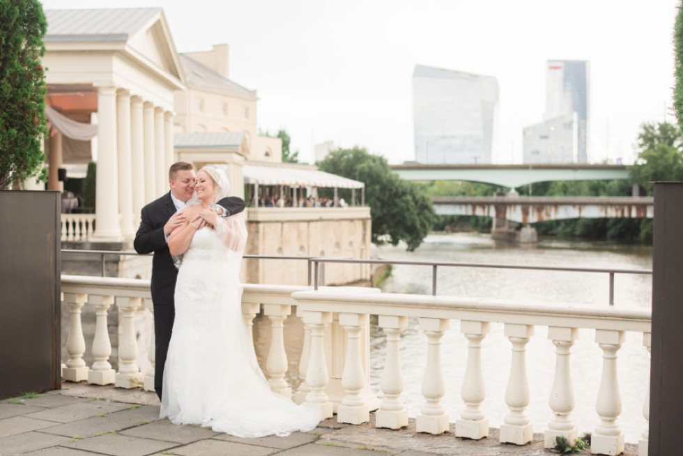 Cescaphe Waterworks wedding in Philadelphia Schuylkill River