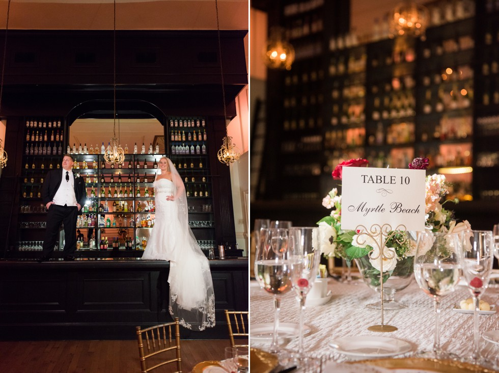 Cescaphe Ballroom Bar wedding photo