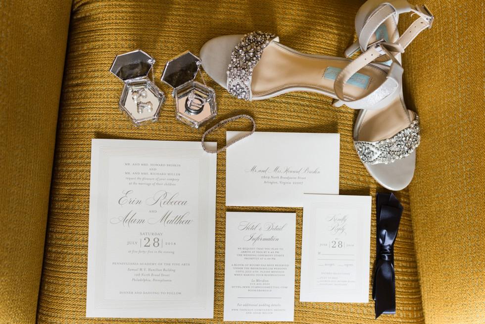 Le Meridien bridal details
