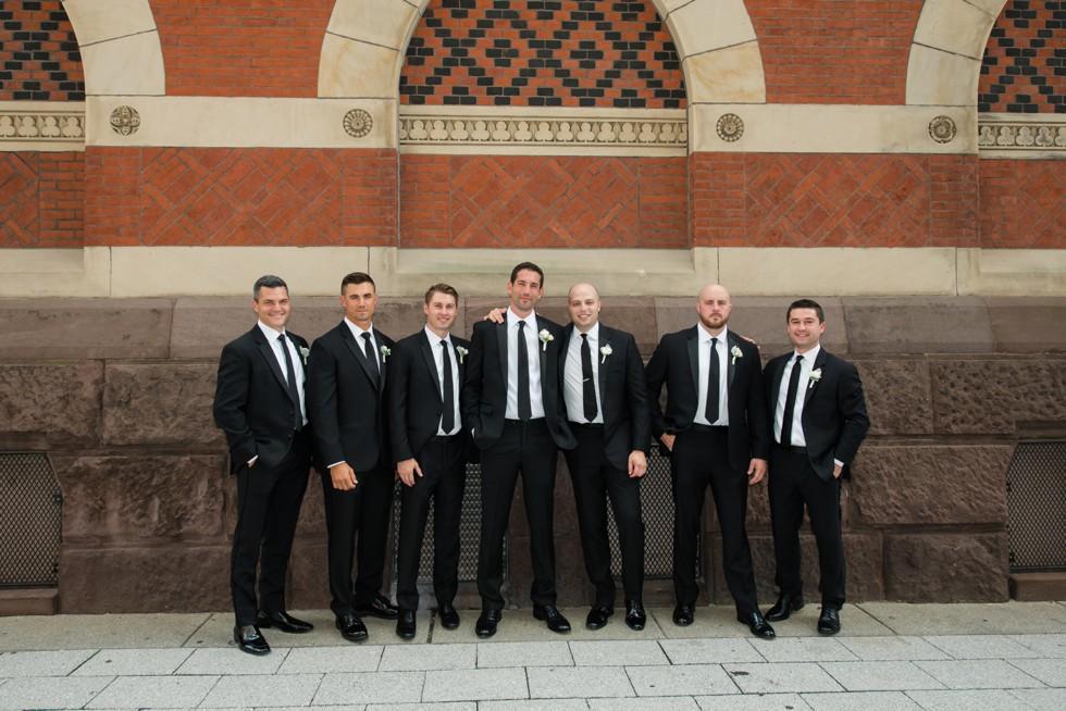 Le Meridien Philadelphia groomsmen at PAFA