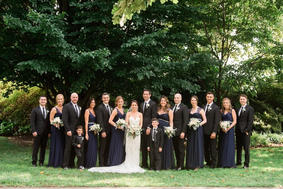 Azalea Garden wedding party photos