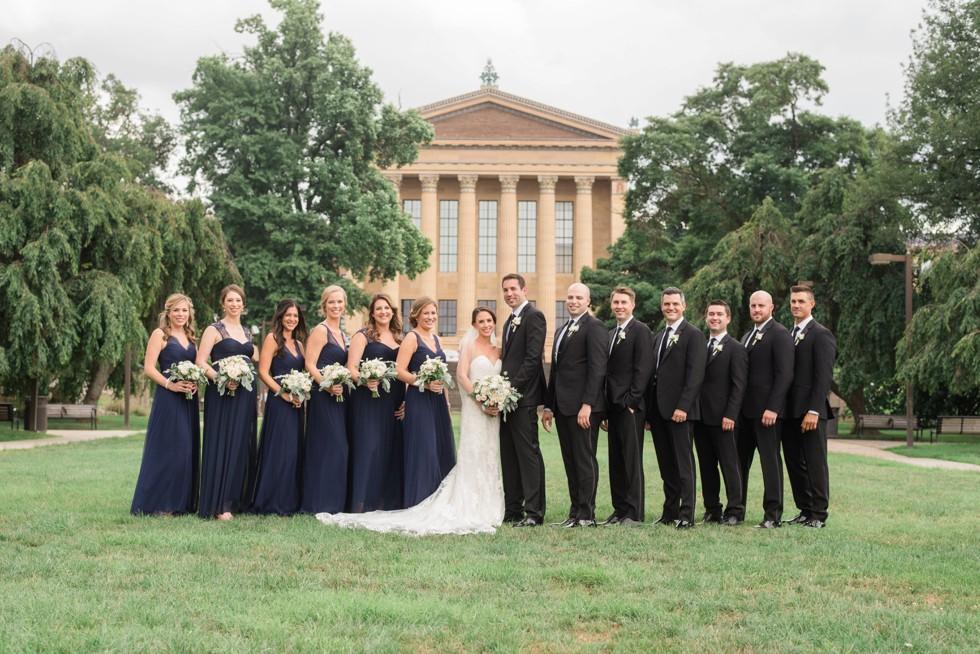 Philadelphia Museum of Art wedding party photos