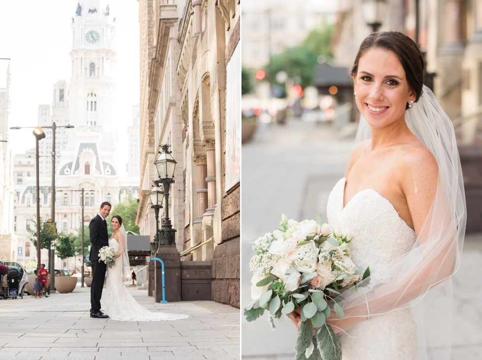PAFA Broad Street wedding photo
