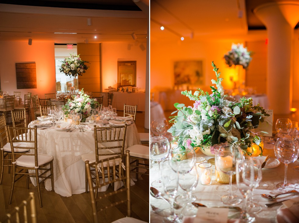 Table Art PAFA Hamilton indoor wedding Reception