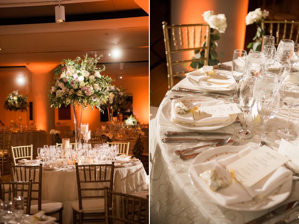 Table Art PAFA indoor wedding Reception