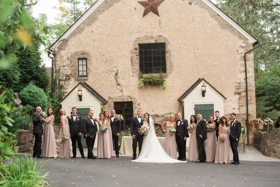 Holly Hedge estate New Hope PA wedding party