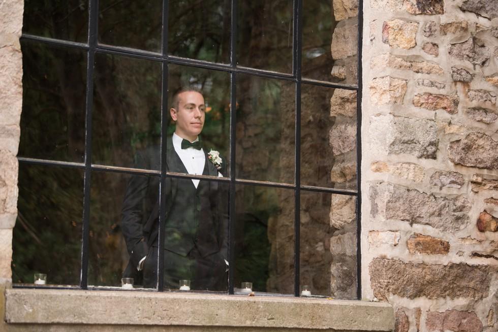 Holly Hedge estate rainy wedding