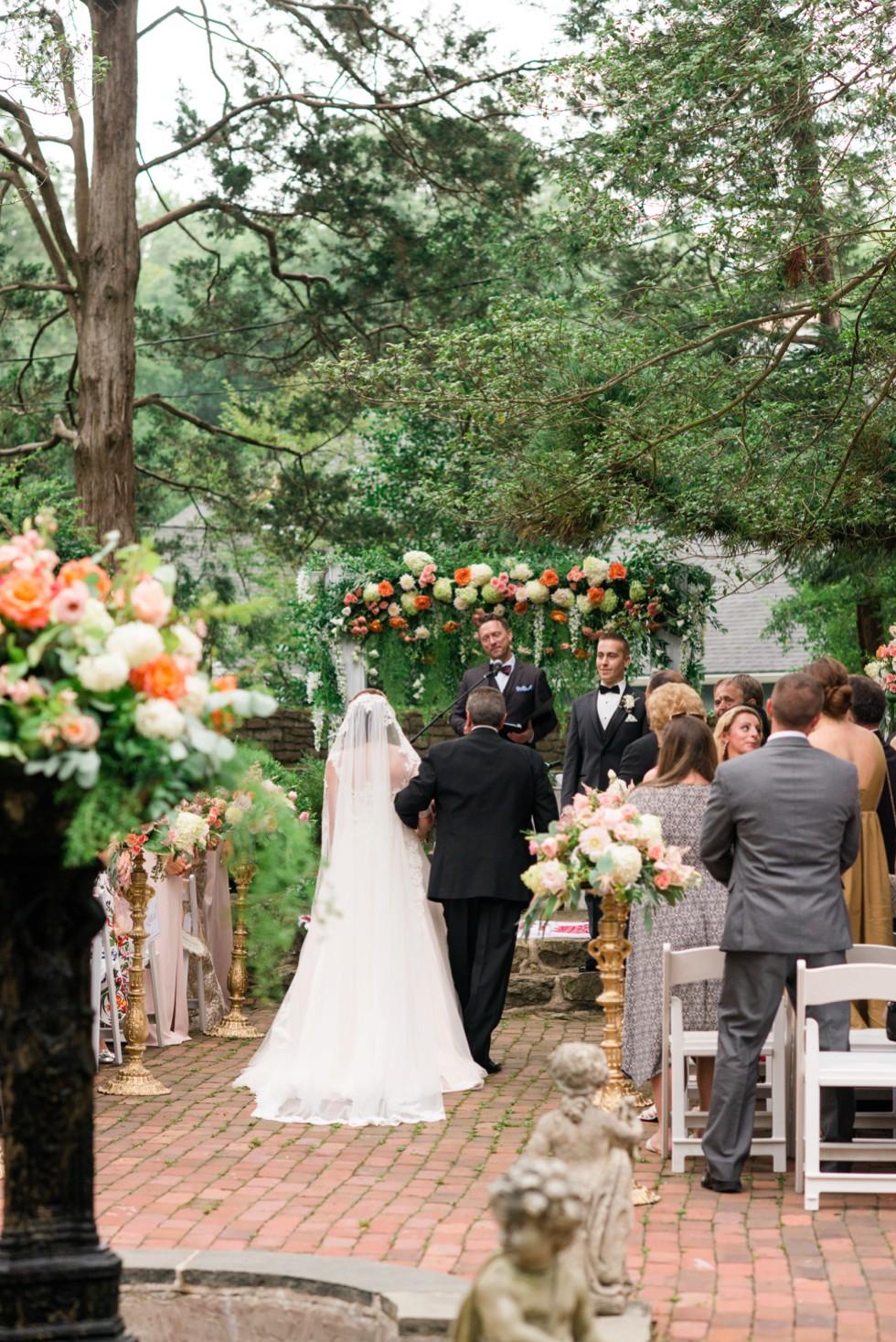 Holly Hedge estate outdoor wedding ceremony