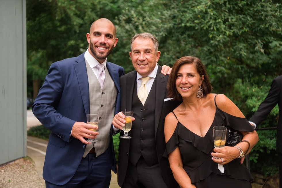 Holly Hedge Estate wedding couples