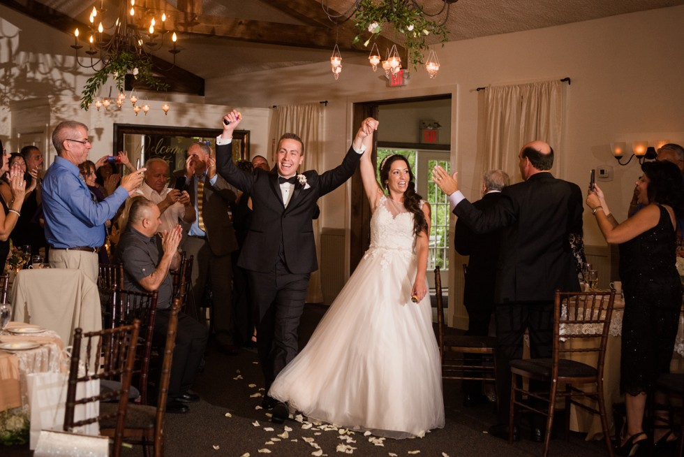 Holly Hedge Estate wedding Reception introductions