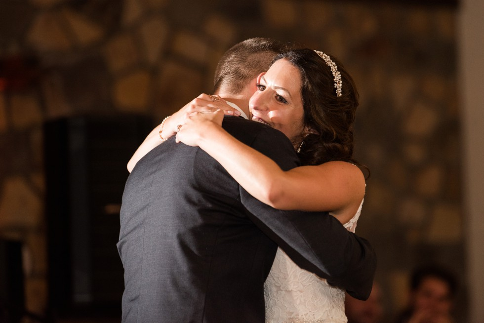 bride and grooms first dance at Holly Hedge Estate