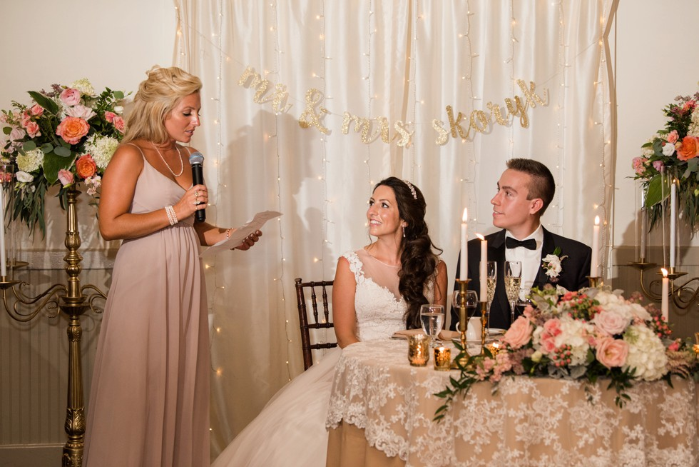 toasts in New Hope PA wedding