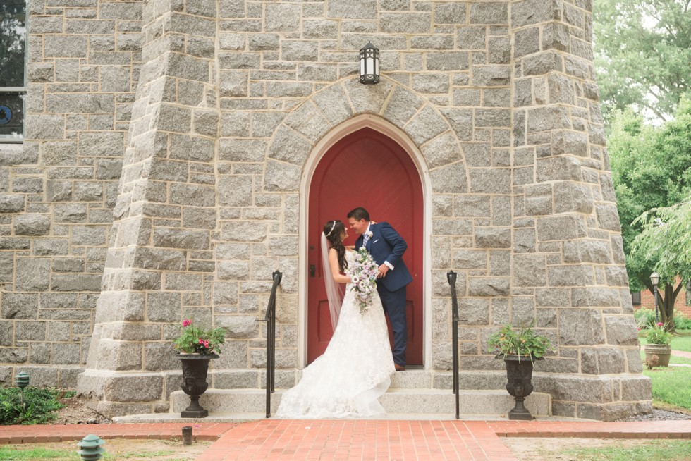Trinity Cathedral bride and groom photo