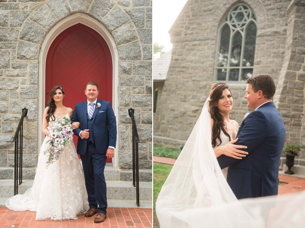 Trinity Cathedral wedding couple photo