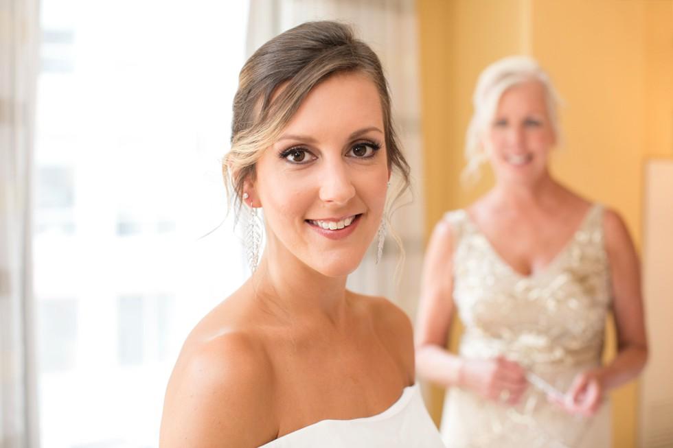 baltimore hotel wedding bridal prep