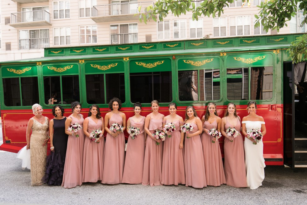 baltimore wedding with a trolley