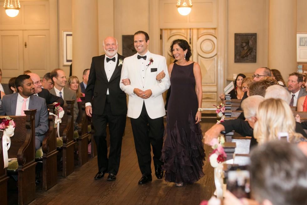 First Unitarian Church of Baltimore wedding ceremony
