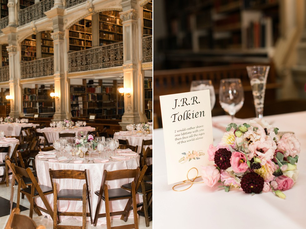 Local Color Flowers Peabody library wedding