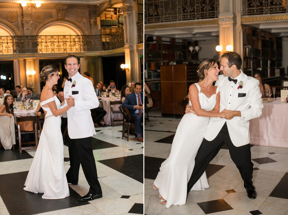 Simply Created Events Peabody library wedding reception