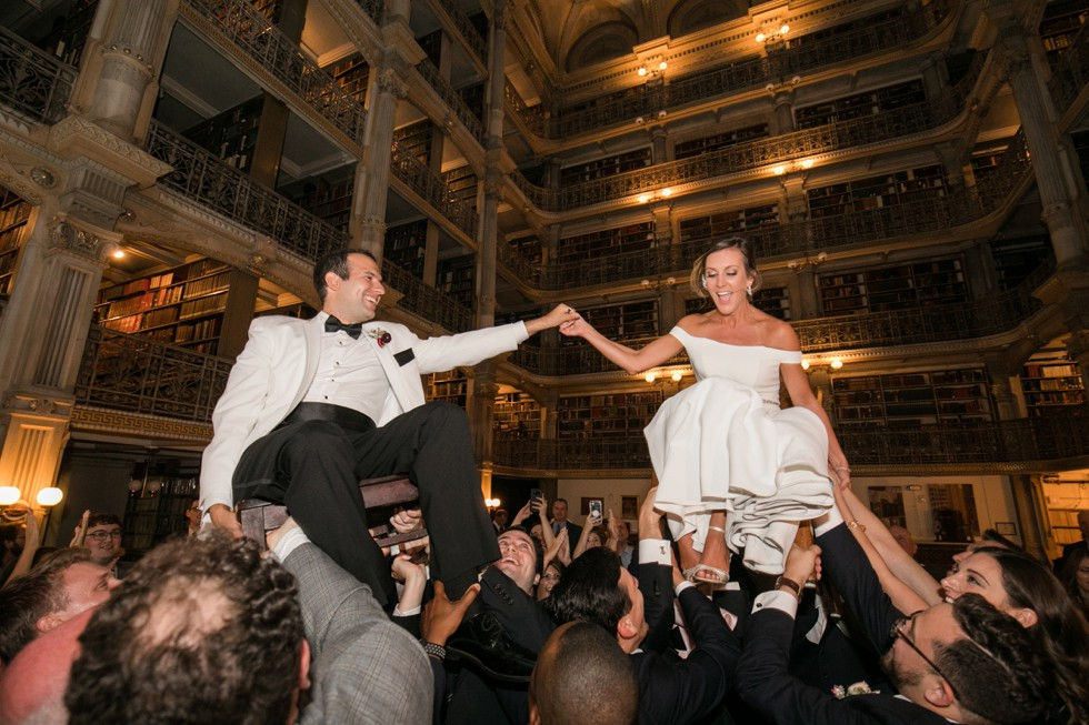 Bachelor Boys Band reception at peabody Library