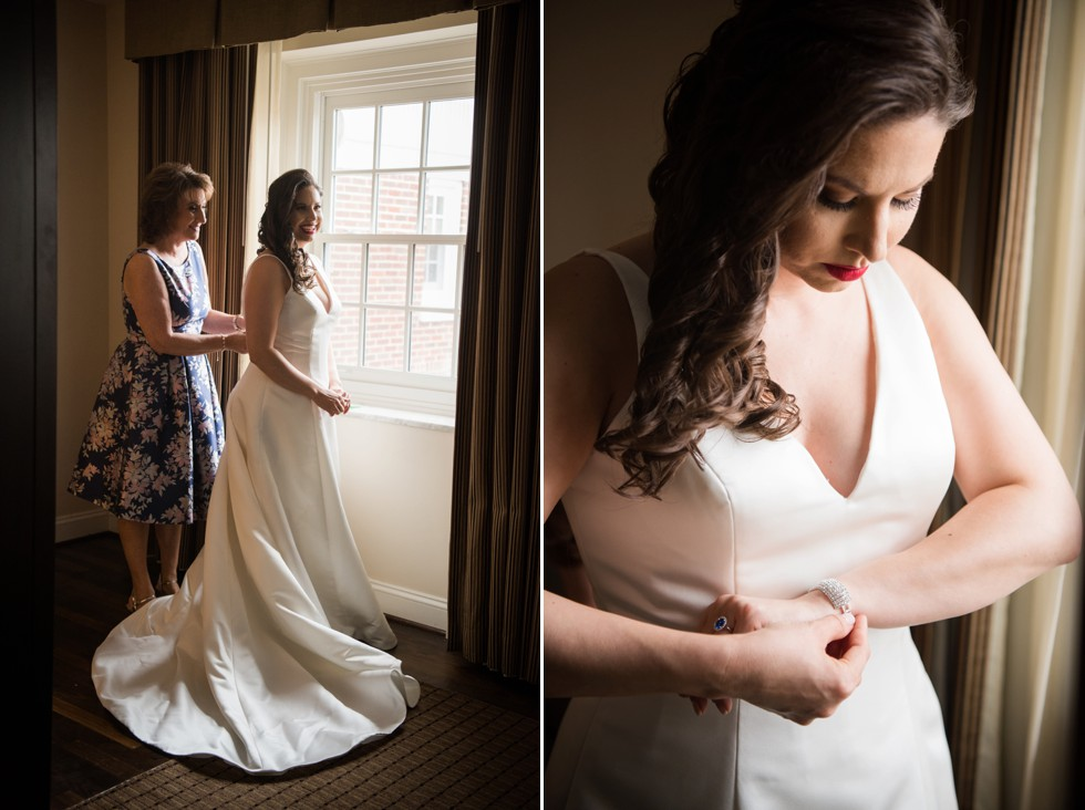 University Club of Washington DC bridal prep