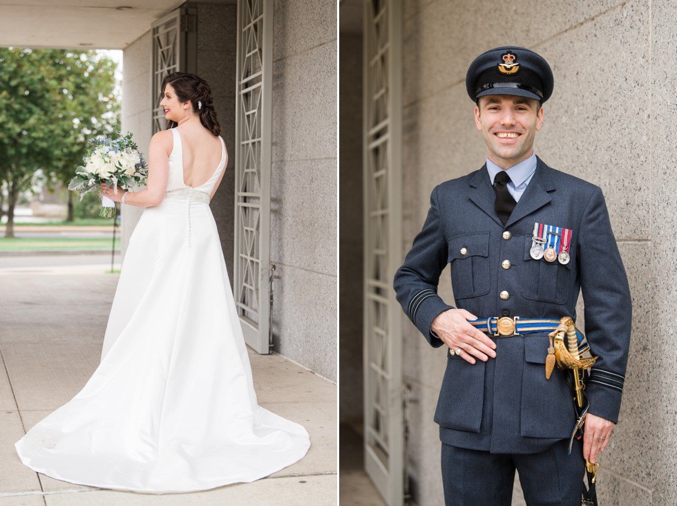 Royal navy groom - White house DC wedding photos