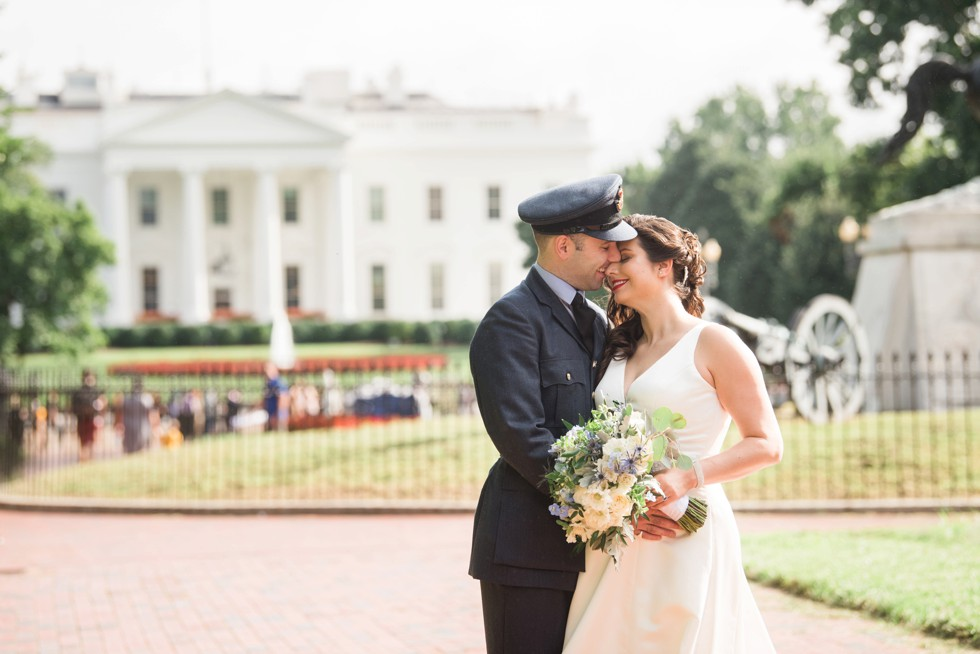 White house DC wedding photos