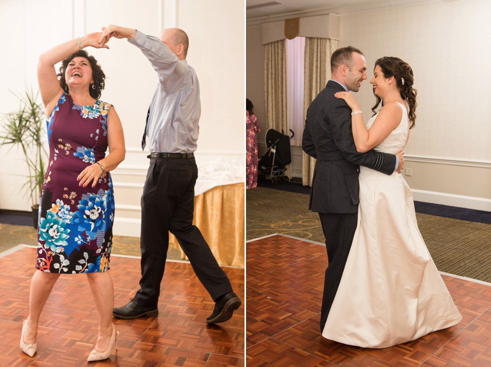 University Club of Washington DC library wedding first dance