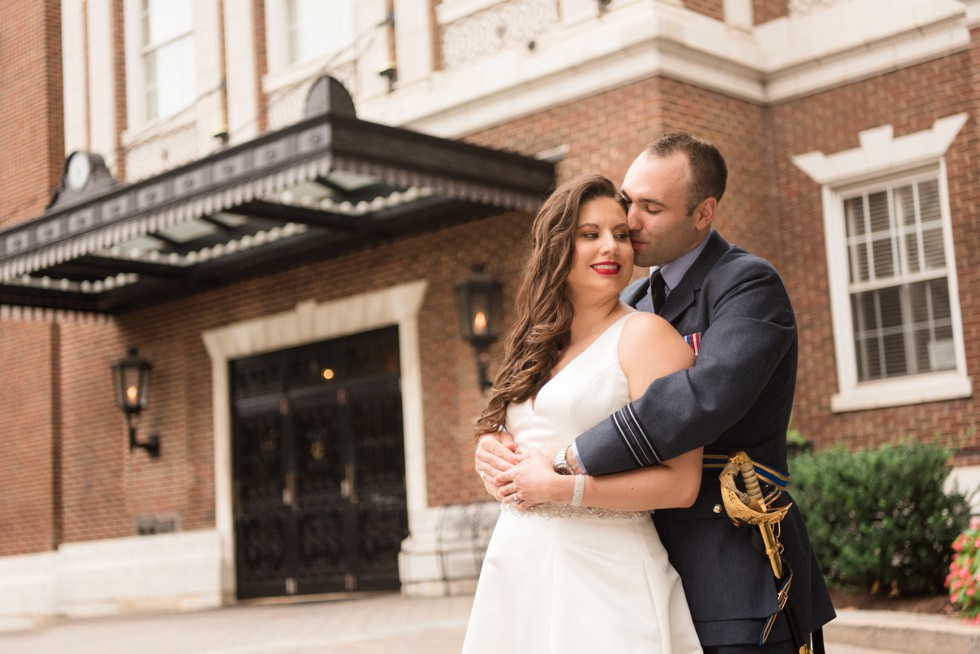 University Club of Washington DC wedding bride and groom