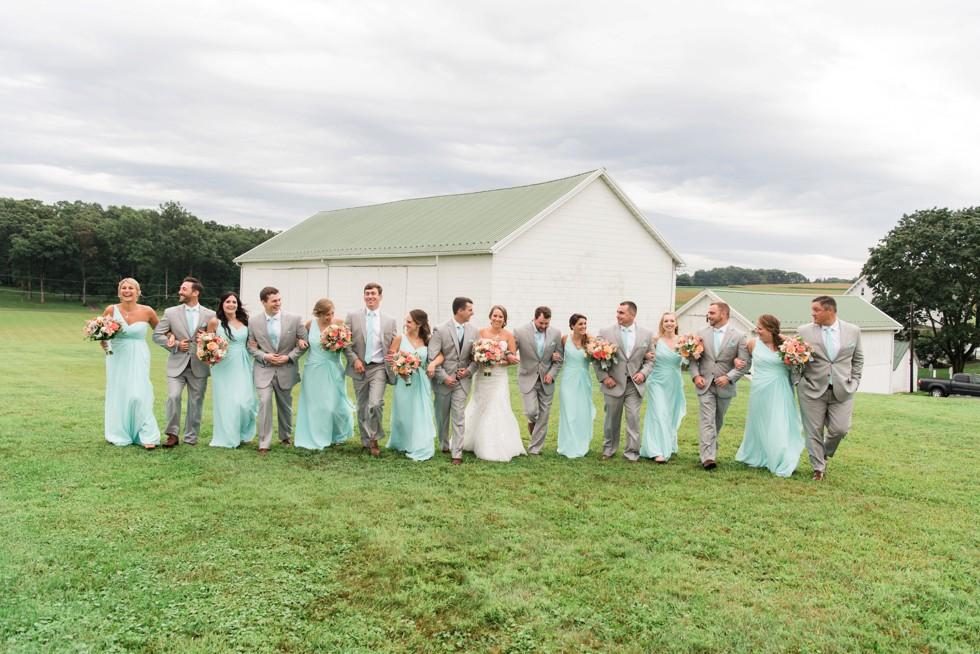 Maryland Farm wedding party at Friendly Farm