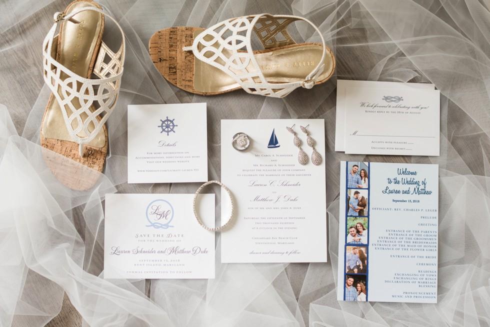 bride's details Inn at the Chesapeake Bay Beach club