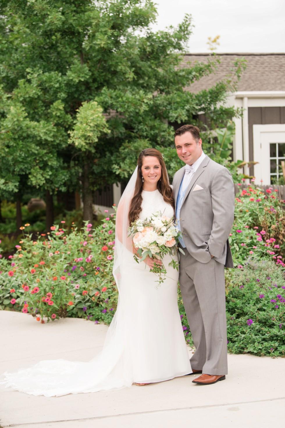 bride and groom at The Inn at the Chesapeake Bay Beach club