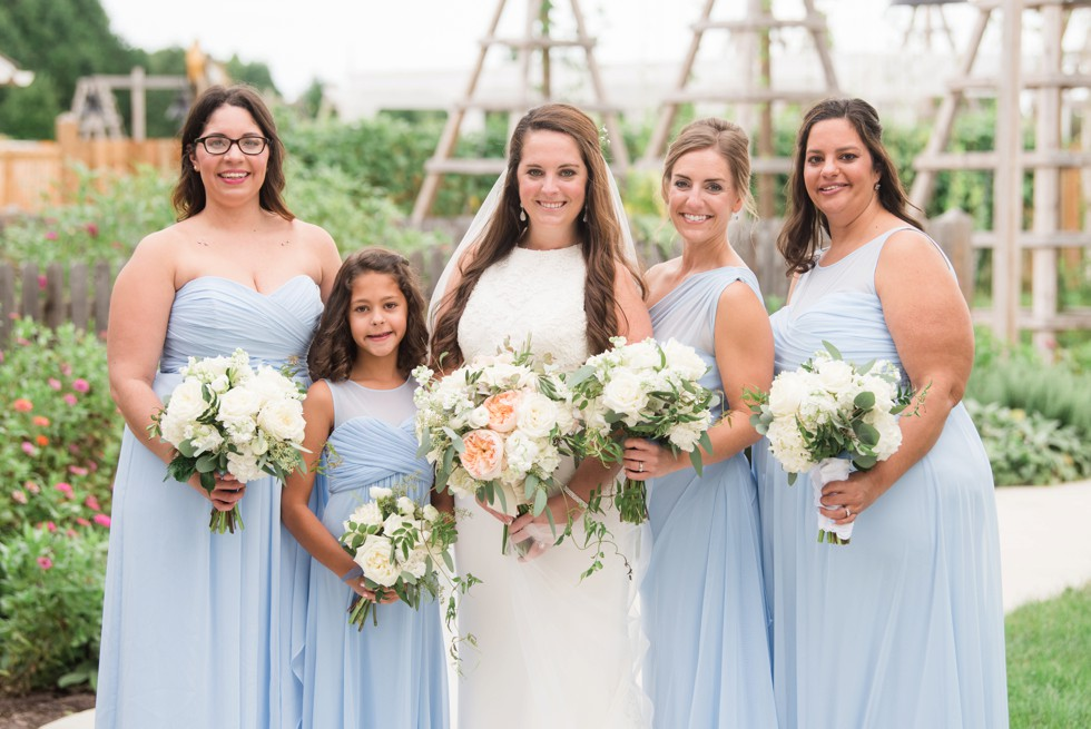 Chesapeake Bay Eastern Shore bridesmaid in blue