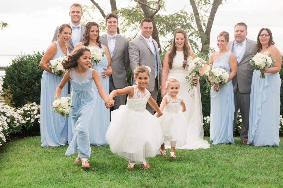 Chesapeake Bay Beach Club wedding party photos