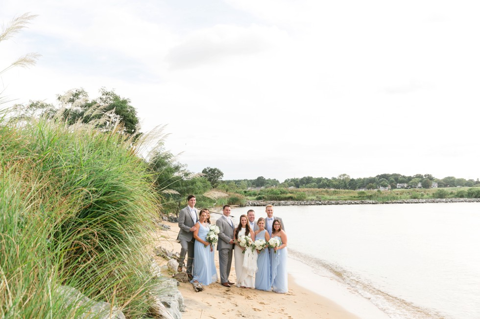 Chesapeake Bay Eastern Shore wedding party