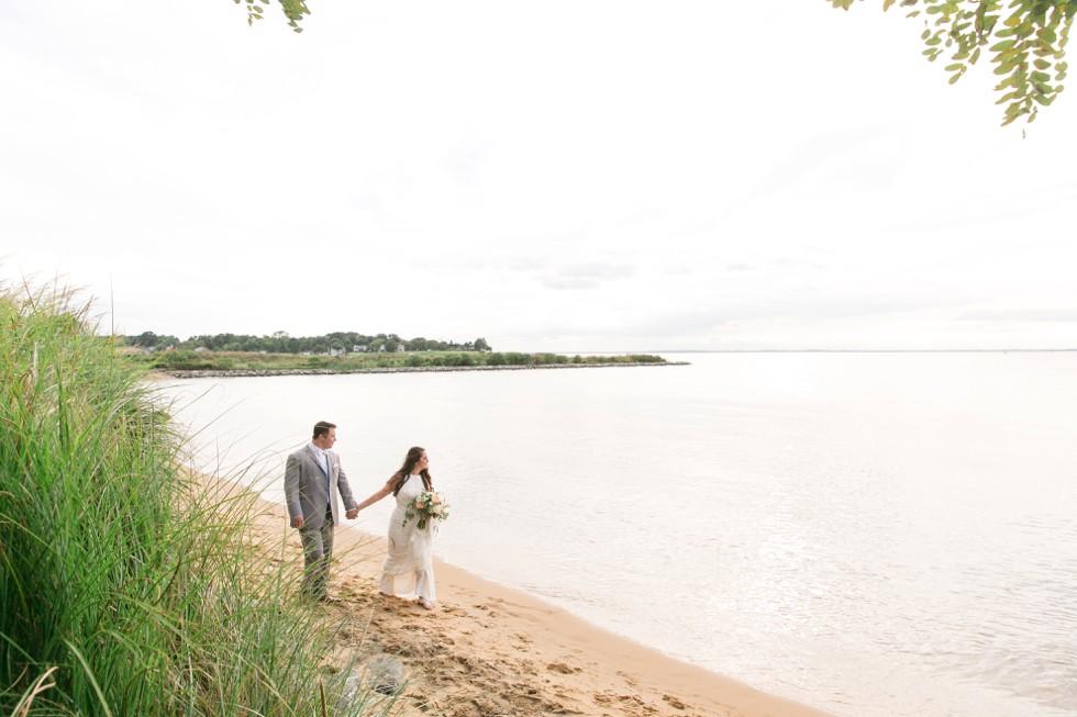 Beach wedding on the bay